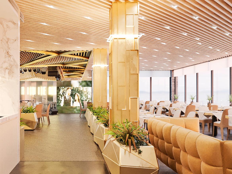 Riviera ресторанний комплекс хід будівництва